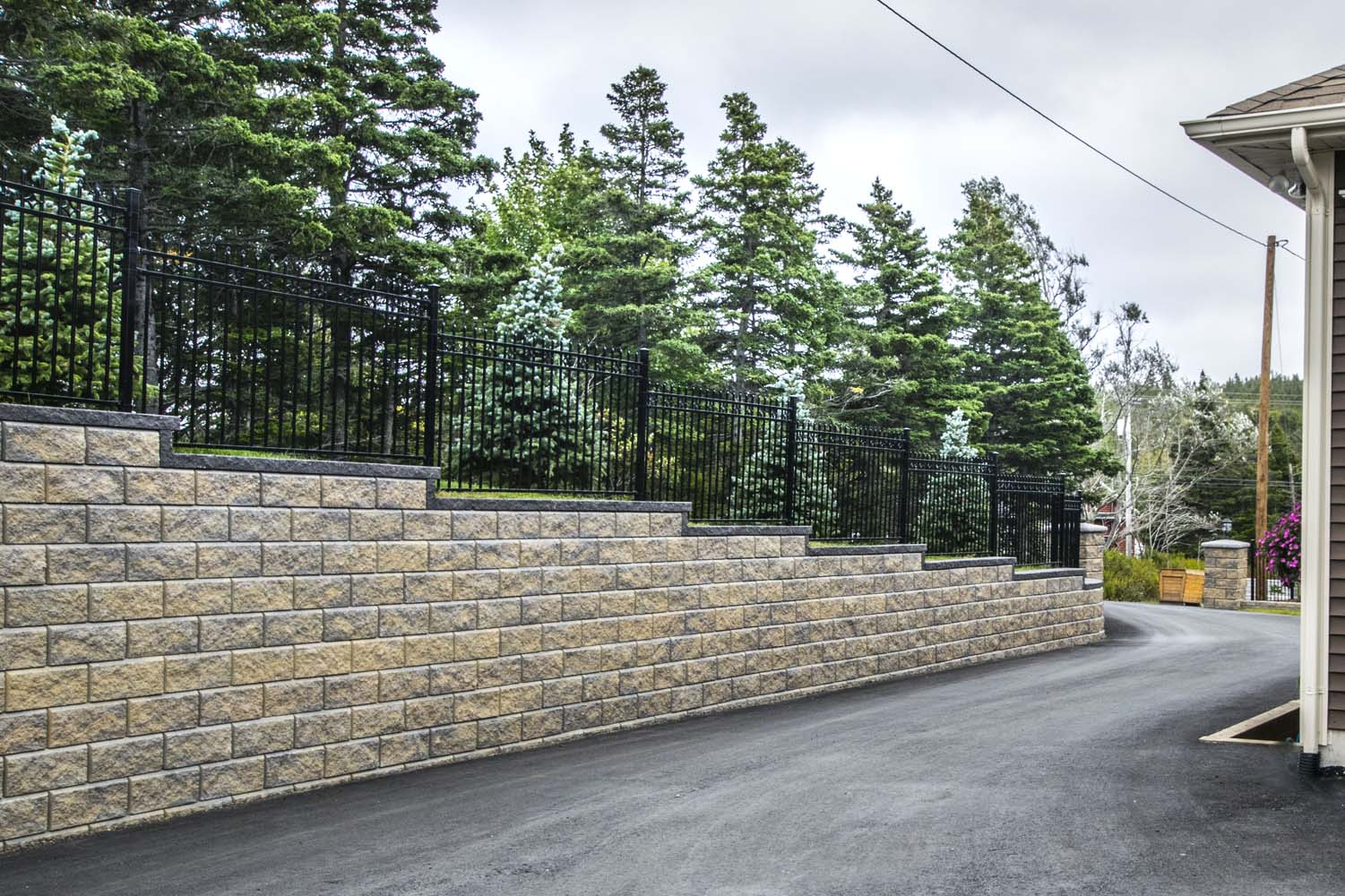 Retaining wall - Victorian project 7