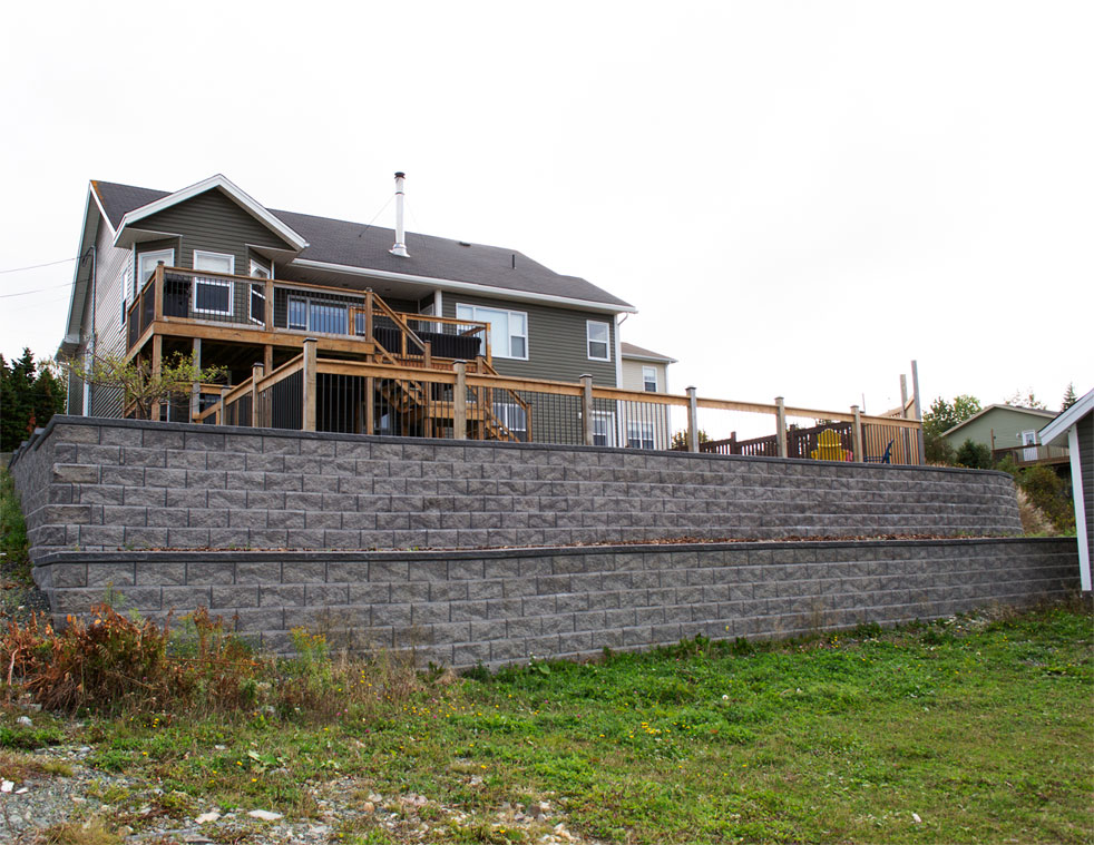 Retaining wall - Victorian project 18