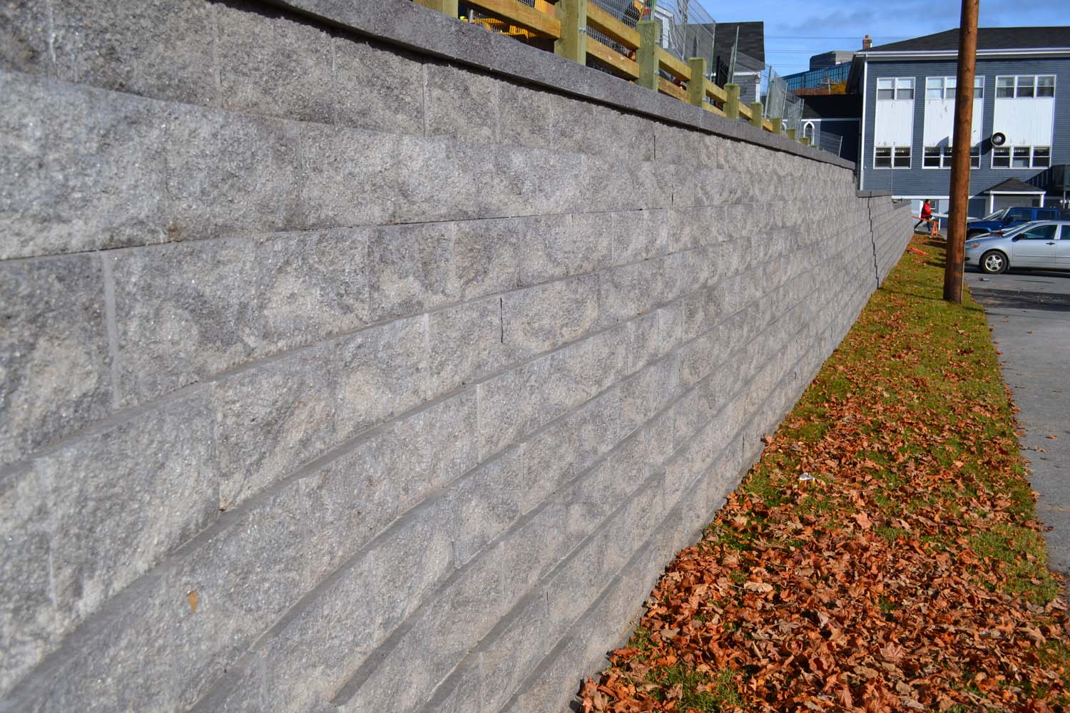 Retaining wall - Compac project 1