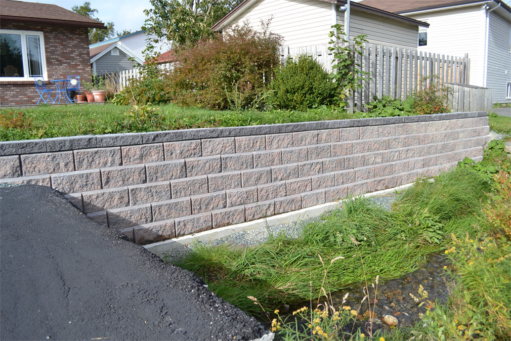 Retaining wall - Victorian project 20